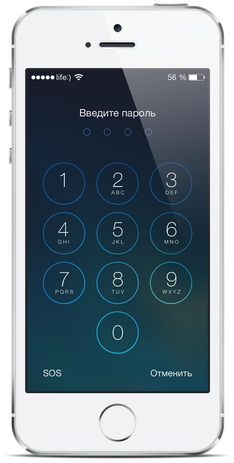 При неисправном сенсоре даже набор пароля проблематичен