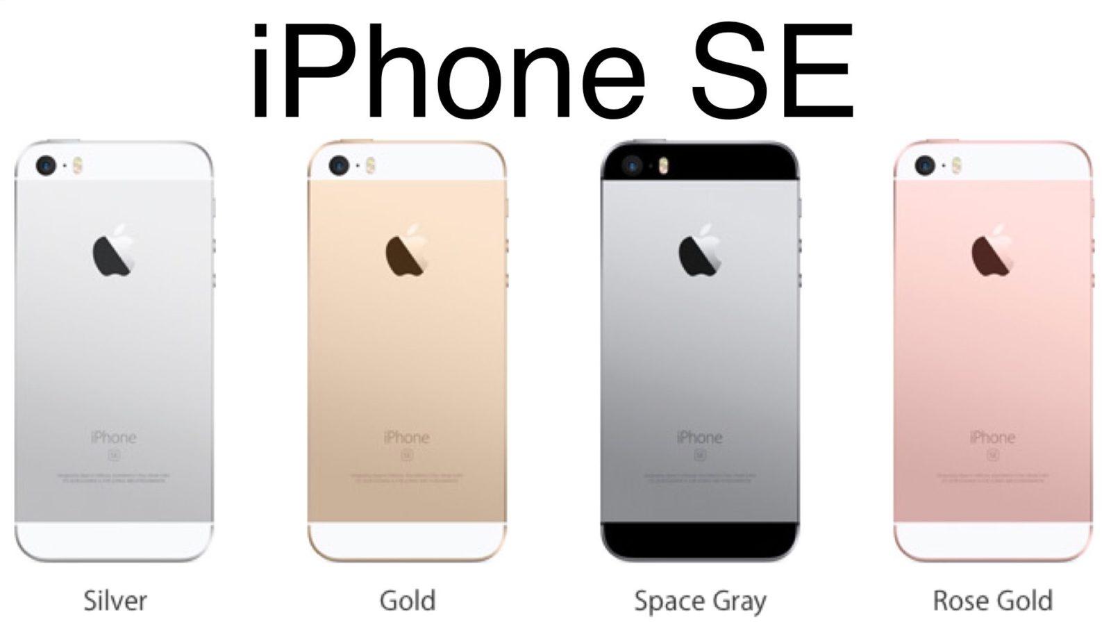 Разный дизайн iPhone SE