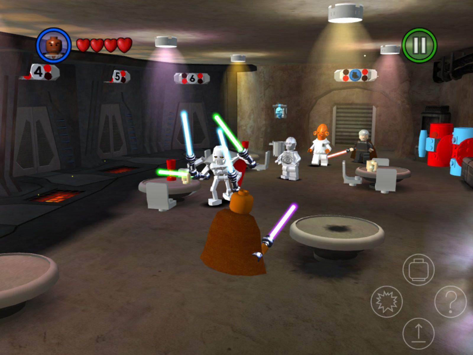 Сражение в баре в стиле Лего
