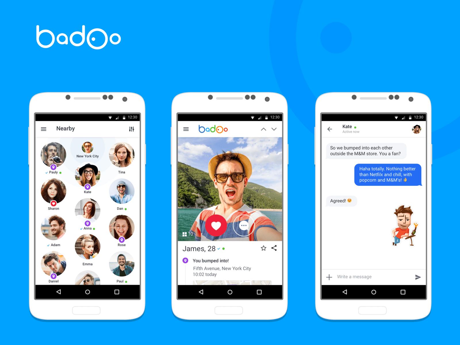 Приложении badoo