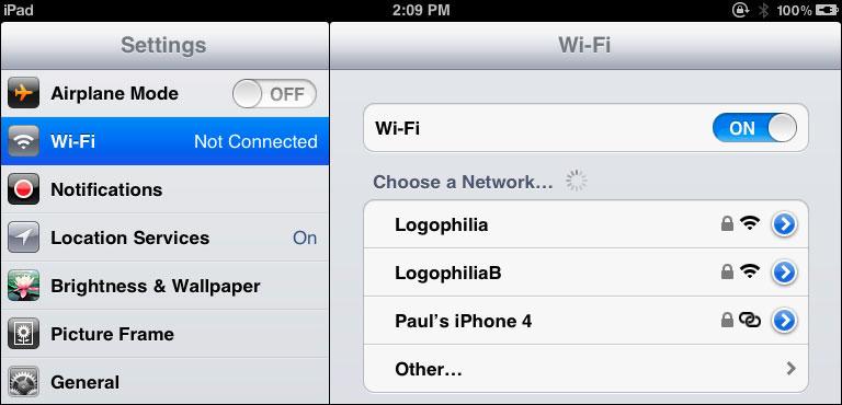 Отсутствует нужная точка WiFi