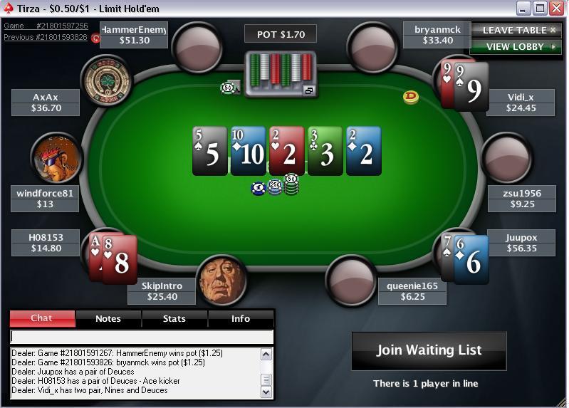 Интерфейс Pokerstart на ПК