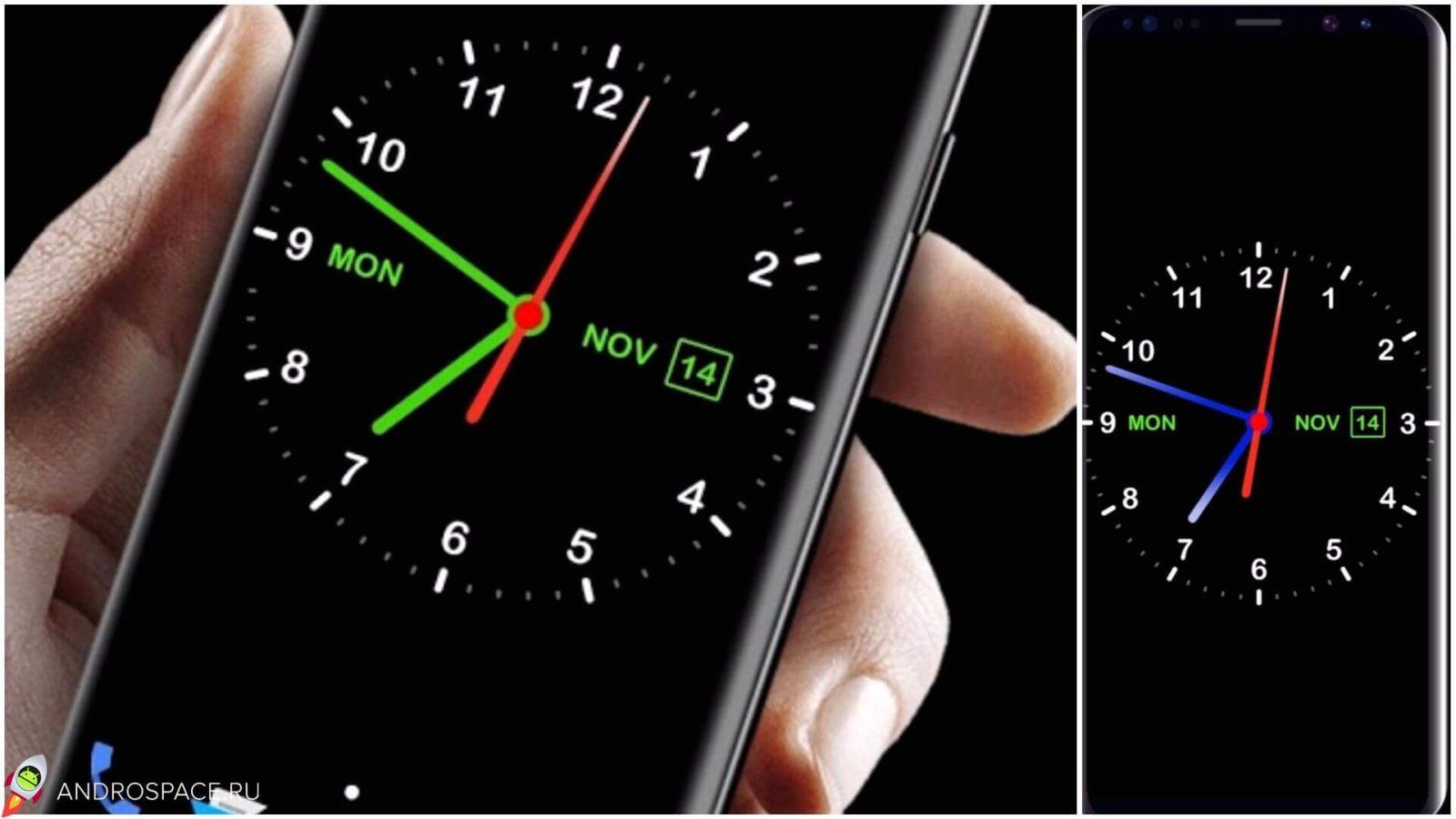 Как сделать часы на андроид