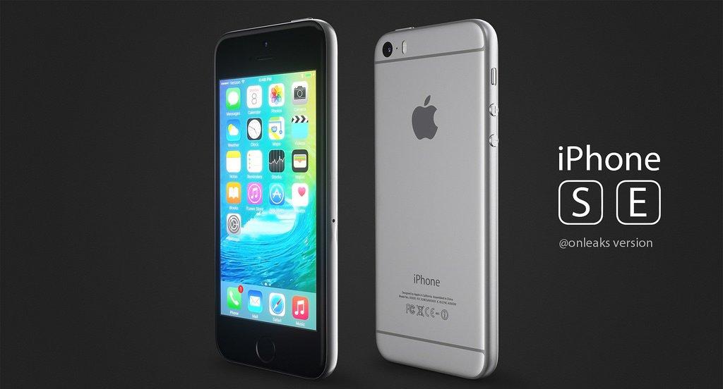 iPhone SE спереди и сзади
