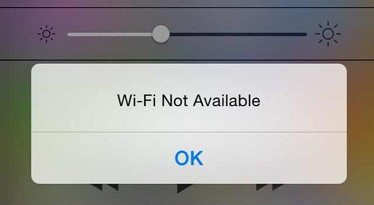 WiFi недоступен