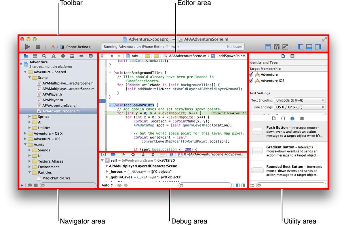 Возможности Xcode: