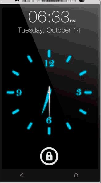 Как сделать часы на выключенном экране